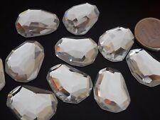 De 2 a 30 Cristales blancos CUADRADO IRREGULAR G 19X25 abalorios bisuteria