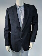 40L Imperial by Haggar 100% Wool Sportcoat/Blazer Navy Blue Made in USA 2-Button
