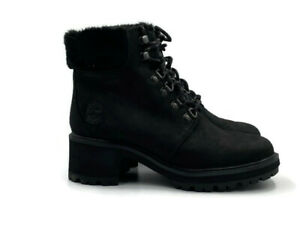 """Timberland Kinsley 6"""" Boot Womens Casual Black White Fashion Waterproof Bootie"""