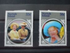 NORFOLK ISLE- 1985 Life & Times of Queen Mum Part Set of 2vs MH Cat 0.65 (2K1)