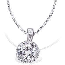 Goldmaid Kette Halskette Collier 925 Sterlingsilber 37 Zirkonia weiß Echtschmuck