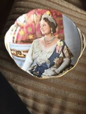 QUEEN ELIZABETH THE QUEEN MOTHER 80TH BIRTHDAY PLATE CROWN
