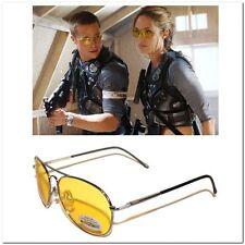 New Classic Pilot Aviator Frame Yellow lens Night Driving Sunglasses Glasses