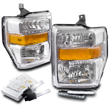 2008-2010 FORD F250 F350 SUPER DUTY CHROME HEADLIGHT LAMP W/DRL LED+6K XENON HID