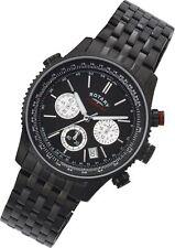 Rotary Men's Black Chronograph Bracelet Analogue Quartz Watch - Black.