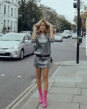 H&M silver glittery mini dress UK 10 BNWT Bloggers favorite Sold Out