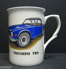 1 TRIUMPH TR6 car Fine Bone China Mug Cup Beaker (blue)