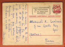 1956 - Suisse - Entier Postal-Flamme-Salon International  De L'automobile-Genève