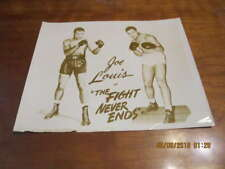 """Joe Louis in """"The Fight Never Ends""""   8x10 vintage issued promo photo"""