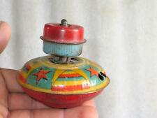 Vintage Old Collectible Unique Fine Baby Spinning Spring Litho Tin Top , Japan