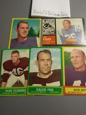 Lot of 5 Football Cards Topps 1963 and 1962-Good condition-Original Vintage