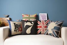 Christmas UK London The Union Jack Flag Queen Cushion Cover throw pillow Case