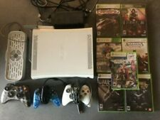 Xbox 360 Bundle White Console - 3 Controllers - 7 Games - With Stand/Fan