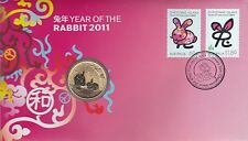 2011 Christmas Island Australia, Year of the Rabbit, PNC $1 Unc