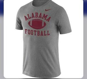 Nike Men's Alabama Crimson Tide Legend Football T-shirt Gray Size Medium $30