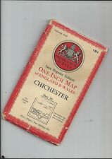 """OS 1""""N Popular Edition map CHICHESTER 181 1952"""
