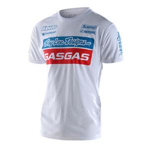 Troy Lee Designs Short Sleeve Mens T-Shirt 2021 TLD GASGAS Team - White