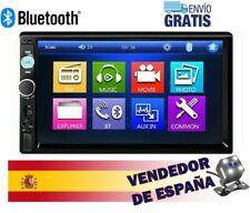 "Radio de Coche 2 Din 7"" Autoradio Bluetooth USB Pantalla Táctil Cámara Trasera"