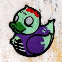 Zombie Duck Patch Zombie Ducky Crest Iron to Sew on Badge AS PICTURED AP 85