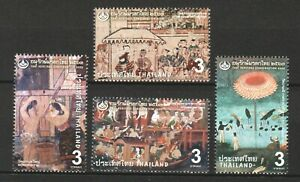 THAILAND 2020 THAI HERITAGE CONSERVATION MURAL PAINTING CENTRAL REGION 4 STAMPS