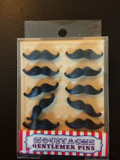 Puckator Gentlemen Moustache Pin Board Pins 10 In Pack Hipster Trendy Fun Gift