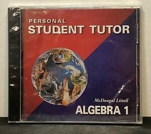 Mcdougal Littell Algebra 1 Personal Student Tutor 2.0 (2003 PC CD-ROM) Brand New
