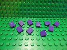 Lego 10 Dark Purple 1x1 roof finish tile 30 degree slopes NEW