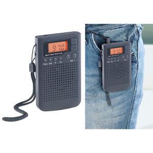 MW Radio: UKW-/MW-Taschenradio mit LCD-Display, Wecker, DSP, PLL-Tuner