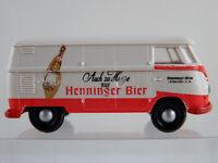 """Brekina 0308 VW T1b Kasten (1960) """"Henninger Bier"""" in weiß/rot 1:87/H0 neuwertig"""