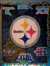 "Pittsburgh Steelers superbowl fleece throw blanket (approx. size 42"" x 54"")"