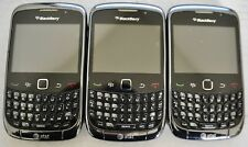 Blackberry Curve 3G 9300 Black Smartphone Cell Phone AT&T Set of 3