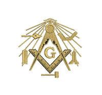 Freemason Masonic Compass symbols Embroidered Polo Shirt Embroidered gift