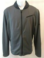 Nike Casual Basketball Zip Up Warm Up Jacket Dri Fit Gray Mens Large Regular