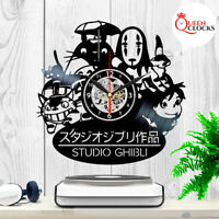 Studio Ghibli Totoro Spirited Away Hayao Miyazaki Vinyl Record Wall Clock Gift