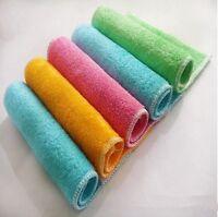 Pure Color Bamboo Fiber Dish Towel Kitchen Towels Magic Dish Cloth Microfiber