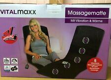 Vitalmaxx Massagematte mit Vibration & Wärme 5 Vibrationsmassagemotoren