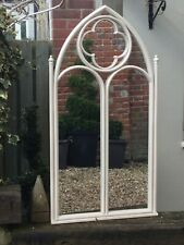 Metal Garden Mirror in the style of Church Window from the Gothic Victorian Age