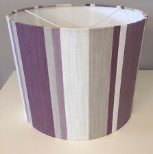Laura Ashley Awning Stripe Lampshade Handmade In Grape Purple 30cm