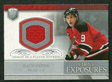 ZACH PARISE 06-07 BE A PLAYER PLAYER WORN JERSEY NEW JERSEY DEVILS
