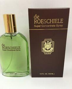 De Rothschild/De Roeschiele SUPER CONCENTRATE Spray Cologne 3.4oz/100ml NIB