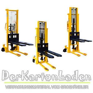 MIDORI Hochhubwagen Handstapler Hydraulik Deichselstapler Stapler Hubwagen PU