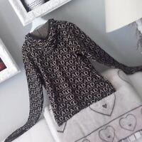 Maglioncino con cappuccio Angel Devil maniche asimmetriche maglia maglione nero