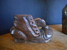 Primitive Fall Boot Decor Small Vintage Brown Work Boot Farmer Country Hillbilly