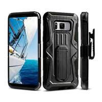 Shockproof Rugged Armor Hybrid Hard Full-Body Case Cover Stand Belt Clip Holster
