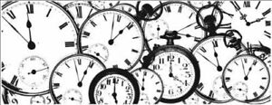 Kaisercraft Tic Toc Clear Cling Stamp Background Clocks