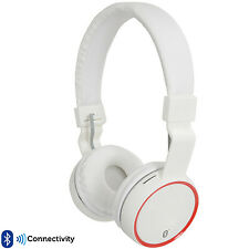 PRO White Wireless/Bluetooth Fold Away Headphones –Microphone FM/SD Gaming