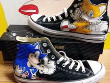 Sonic & Tails Converse All Stars Custom Hand Painted Canvas Sneakers ~ US Made!