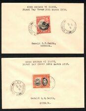 Grenada 1938 KGVI First Day Covers (2) - Nice cds