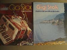 LOT OF 2 GIGI STOK LPS MOTIVI CELEBRI / MUSICA DE'ASCOLTO E DA BALLO VG+ SHRINK!