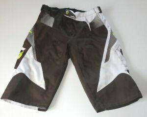 Scott W34 / Gr. L Downhill / Mountainbike Hose / Shorts / Radhose - braun / weiß